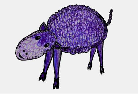 Illustration of Funny sheep