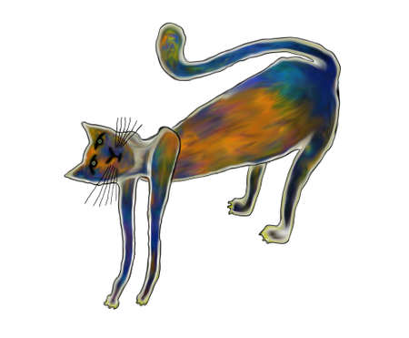 Illustration - type cat for your design Vector