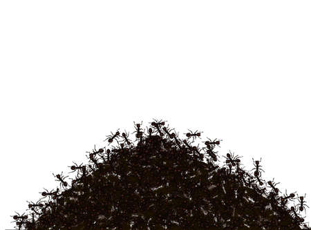 Illustration - anthill on a white background