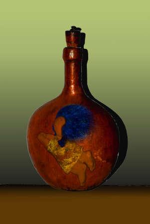 Leather Bottle, Handmade