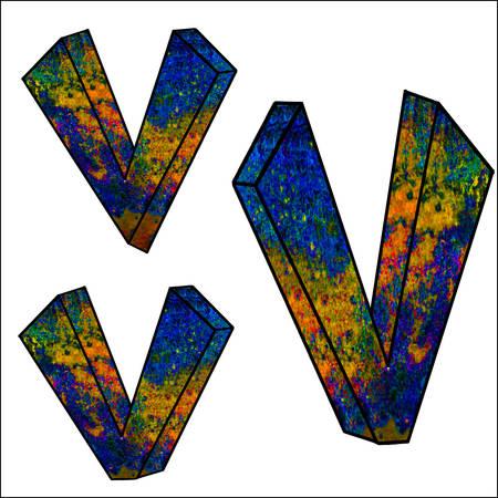 buchstabe: Illustration-3D Der Buchstabe V
