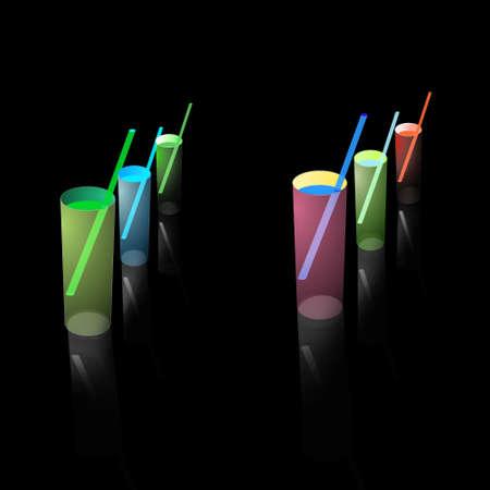 resfriado comun: Foto de archivo - c�ctel de bebidas de colores