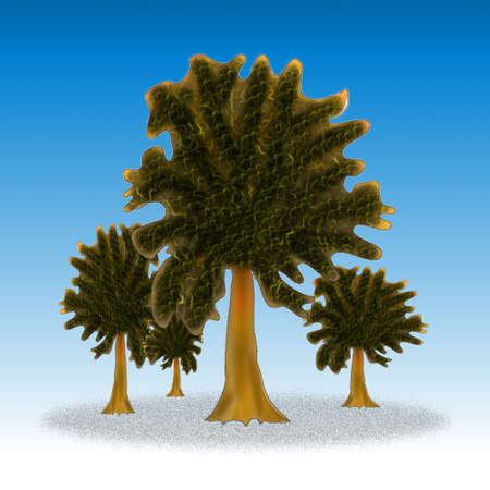 vectorial: Vector - Vector tree silhouette, flowers