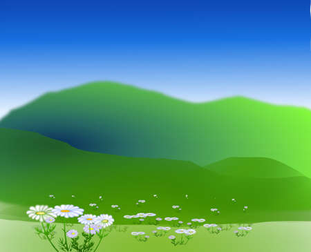 rural scene: Vector - Vector beautiful landscape banners Illustration