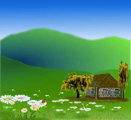 Вектор - вектор Красивая пейзаж баннеры Иллюстрация