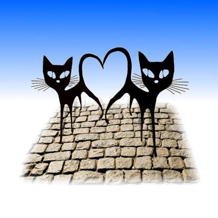Два влюбленных кошек