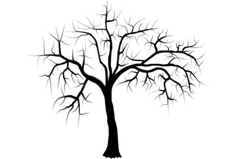 bareness: Tree silhouettes. Vector illustration.