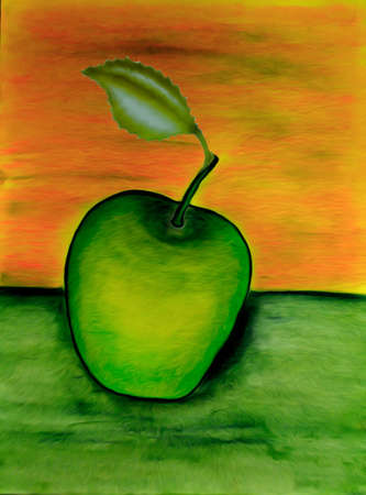 Apple oil painting Stock fotó - 44064559