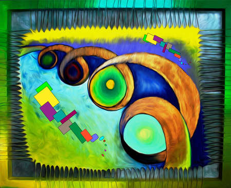 brawn: Abstract colorful oil painting on canvas