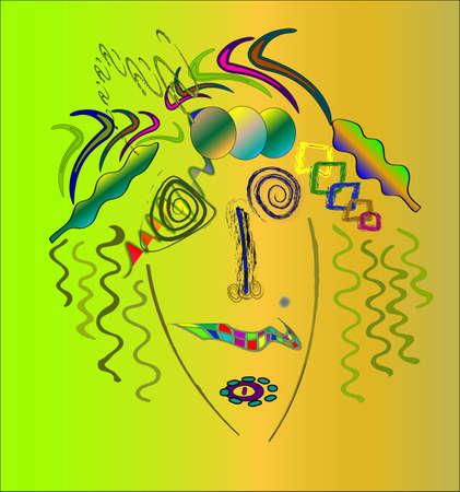 marilyn: Kandinsky style abstract, marilyn monroe.Vector