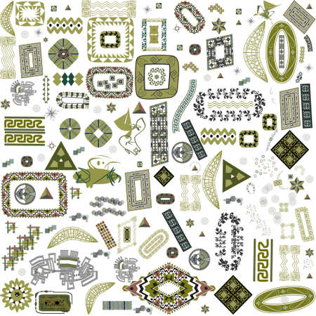 Ethnic handmade ornament for your design.
