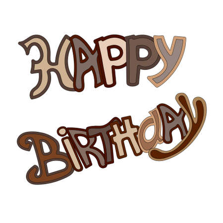 A Vector  Happy Birthday Greeting Card isolated on plain background.