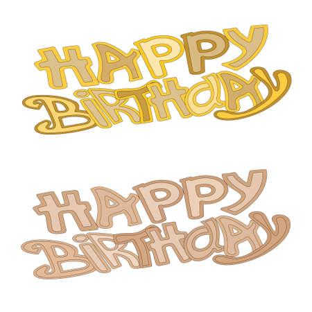 Happy Birthday Greeting Card lettering Illustration