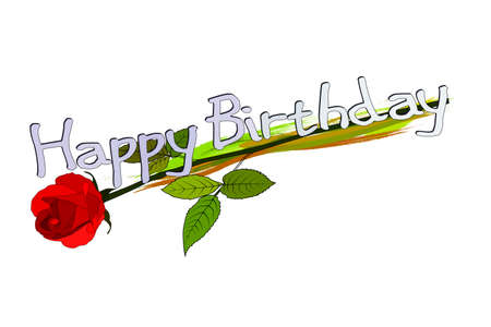 Happy Birthday Greeting Card with rose
