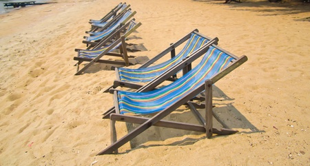 beach chairs photo