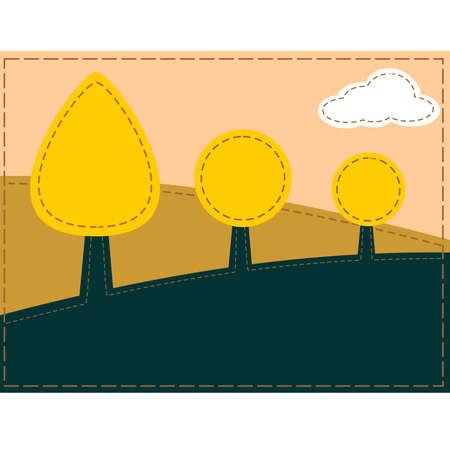 stitched: Stitched landscape