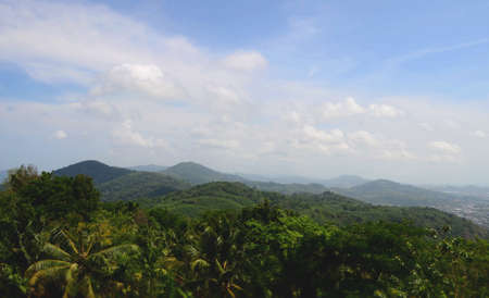 Beautiful mountain range at the west of thailand