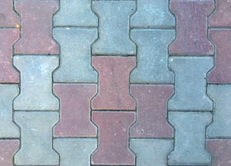 Paving Block texture background. Grey and red texture wallpaper Zdjęcie Seryjne