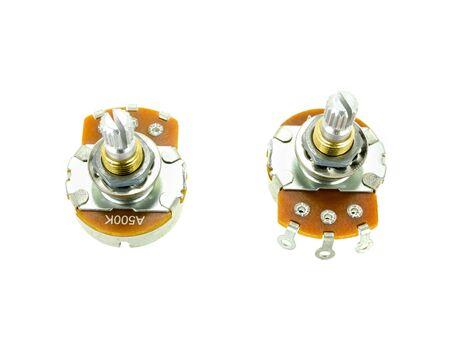 hardware: tone volume pots for guitar hardware Stock Photo