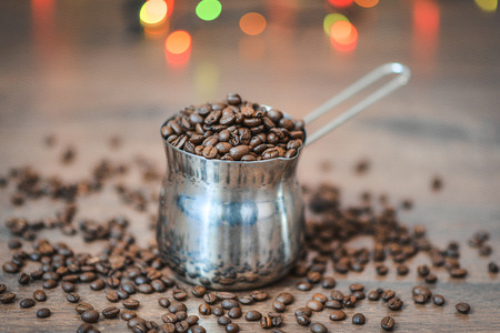 coffee beans in a mug Stock Photo