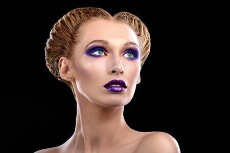 forearms: Beautiful girl makeup touts Stock Photo
