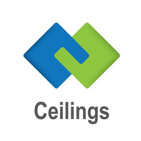 logo per soffitti, piastrelle, pavimenti e soffitti tesi