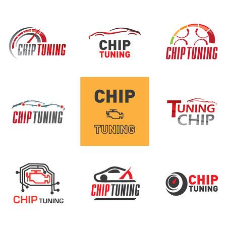 chip tuning logo Vectores