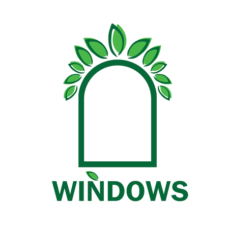 the theme of windows and doors Illustration
