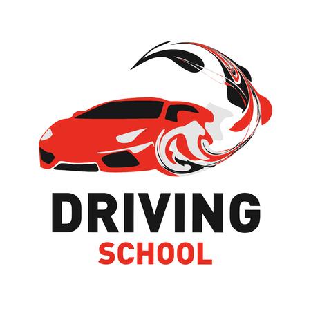 the theme of driving school, car Stock Illustratie