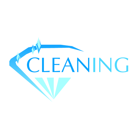 vector logo of cleaning and sweep service