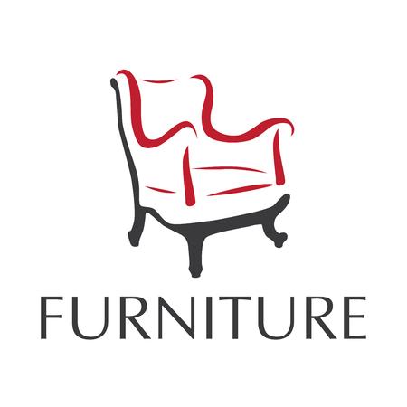 logo wektorowe dla sklepu sprzedającego meble, sofę