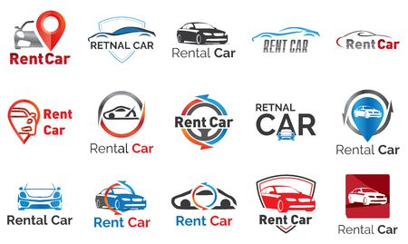 vector set of for car rental and sale
