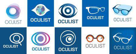 vector optometrist, optics and vision check Illustration