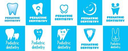 Vector dentistry for children Illustration