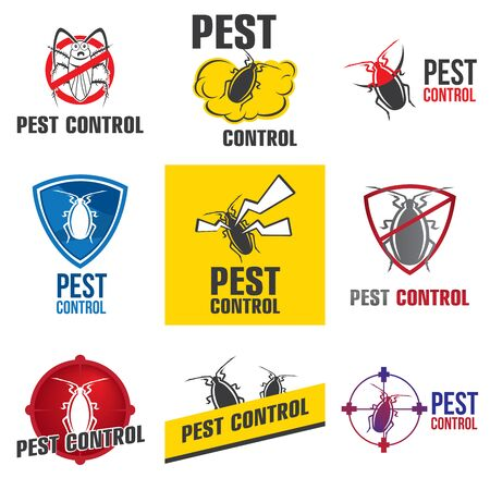 Vector set for pest control company Ilustrace