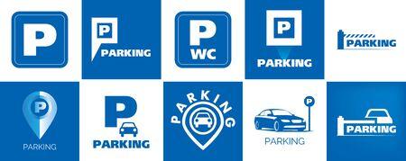 Vector of car Parking zone Banco de Imagens - 130717745