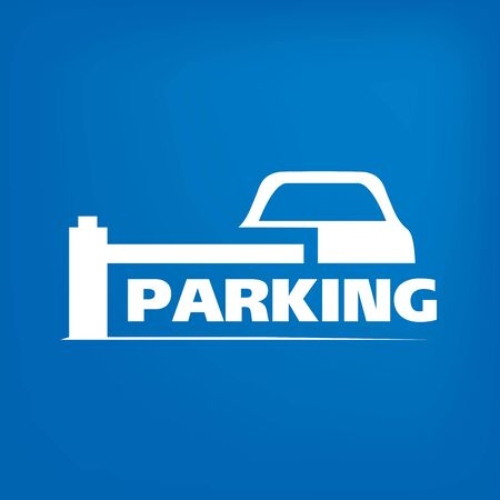 Vector of car Parking zone