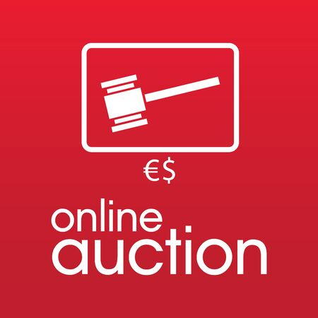 Vector for bidding and auctions Stock Illustratie