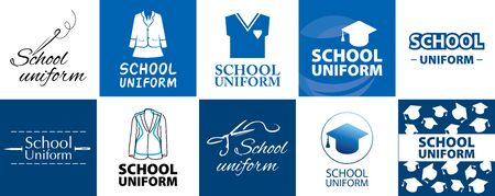 Vector for school uniform store