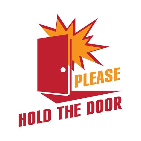 Vector image, please hold the door  イラスト・ベクター素材