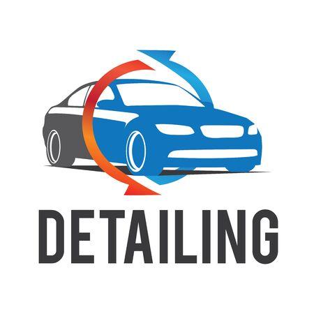 El icono del coche que detalla Ilustración de vector