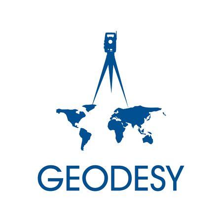The geodesy design logo