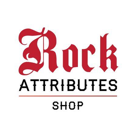 The rock shop paraphernalia icon Illustration