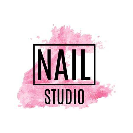 Vector logo of nail care Studio