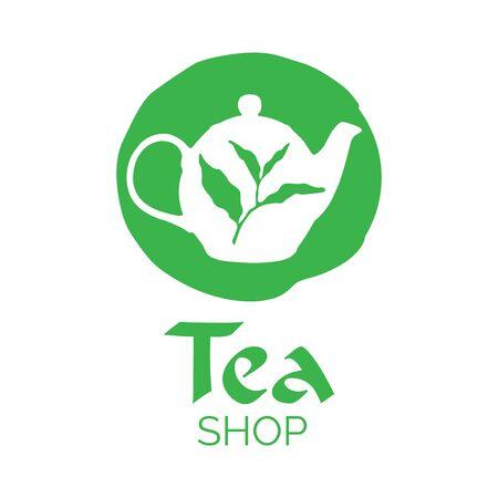Vector logo of a tea shop