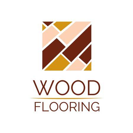 Vector logo of wooden floors