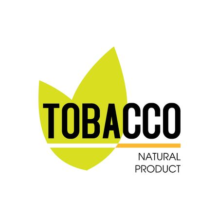 Vector logo for natural tobacco products Logo