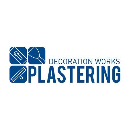 Vector logo of finishing company on plaster