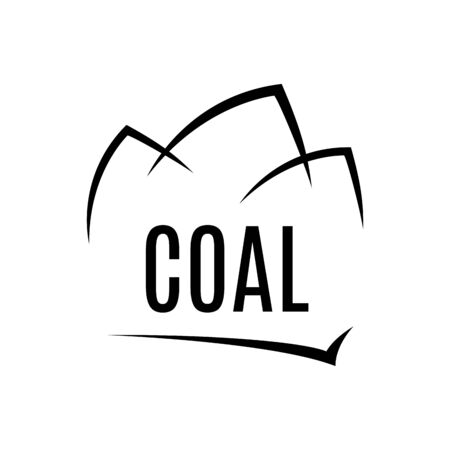 Vector logo of the manufacture and sale of coal