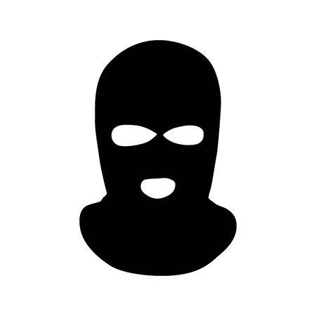 Vector masks of criminals, bandits